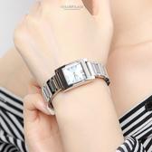 CASIO卡西歐淡藍方框時尚腕錶 都會時尚 柒彩年代【NEC88】