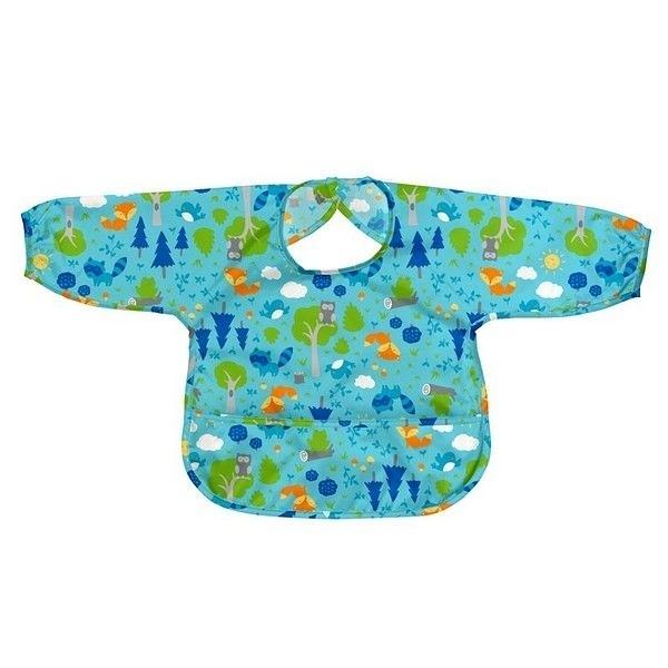 美國 Green Sprouts 小綠芽 長袖防水遊戲衣-水藍森林