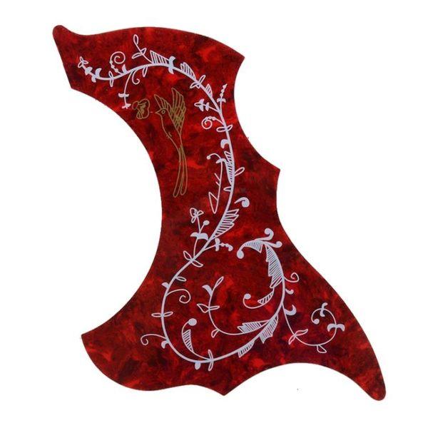民謠木吉他保護面板 吉他配件 民謠吉他護板 蜂鳥花木吉他護板