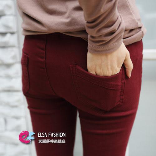 *艾爾莎*【TF40002】極致美臀立體斜紋剪裁顯瘦窄管褲