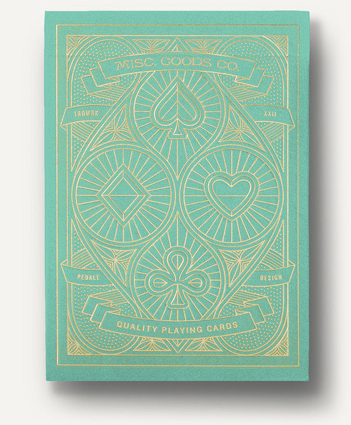 【USPCC撲克】Pedale design MISC GOODS playing cards V2 綠 by USPCC