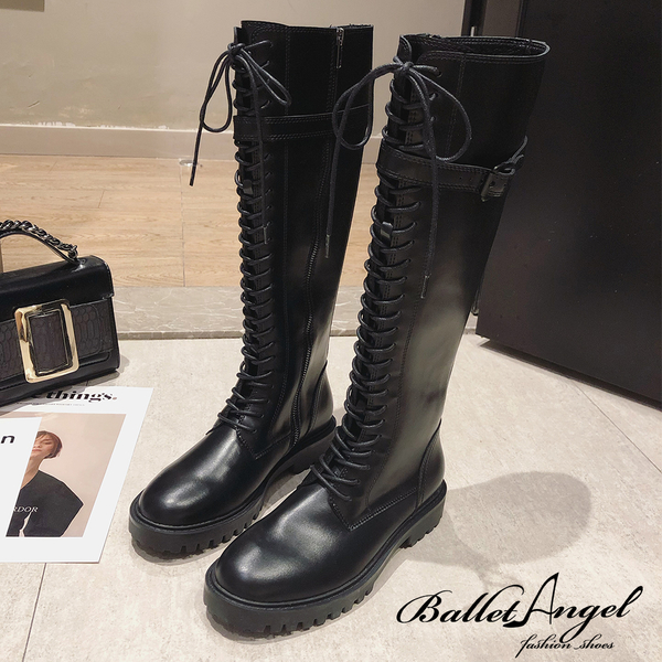 短靴 歐美街頭個性女孩長筒靴(黑) *BalletAngel【18-1613k】【現+預】