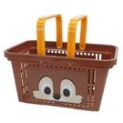 小禮堂 迪士尼 奇奇蒂蒂 塑膠手提置物籃...