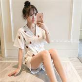 睡袍 睡衣女夏季日系和服純棉兩件套裝清新甜美可愛學生寬鬆韓版家居服·夏茉生活