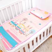 嬰兒夏季冰絲涼席 新生兒寶寶嬰兒床席子 兒童幼兒園午睡涼席枕頭   LannaS