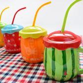 杯子陶瓷個性創意潮流馬克杯帶蓋勺簡約水杯家用大肚兒童牛奶杯 9號潮人館