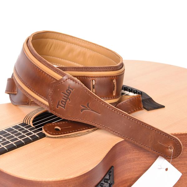 小叮噹的店 美國 Taylor K250-03 Spring Vine Dk Brn2.5吋 吉他背帶