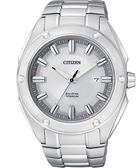 CITIZEN 星辰 ECO-Drive 超級鈦金屬大三針腕錶/手錶-銀/43mm BM7130-58A