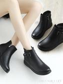 秋冬季媽媽鞋棉鞋中老年短靴平底老人皮鞋加絨保暖防滑中年女鞋子 艾瑞斯居家生活
