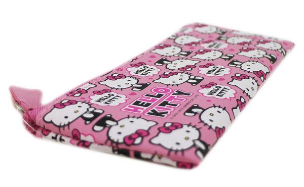 【卡漫城】 Hello Kitty 皮革 鉛筆袋 滿版 ㊣版 小筆袋 拉鍊 化妝包 萬用包 小物 收納包 質感佳 輕便
