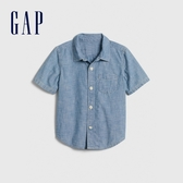Gap男幼淺色水洗牛仔短袖襯衫577667-中度水洗