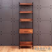 【德泰傢俱工廠】格萊斯積層木工業風2尺展示架-中抽 B001-702-A