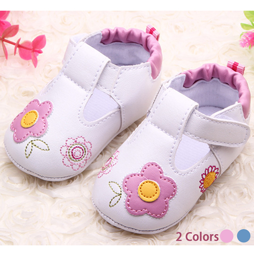 童鞋 學步鞋 男女童寶寶花朵學步鞋