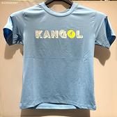 KANGOL 藍色白黃LOGO休閒短袖童裝 6126500981