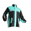 【東門城】ASTONE RA-502 兩件式運動型雨衣(黑/蒂芬妮綠)