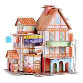 3d立體拼圖兒童紙質模型房子3-6周歲男孩女孩幼兒園益智早教玩具