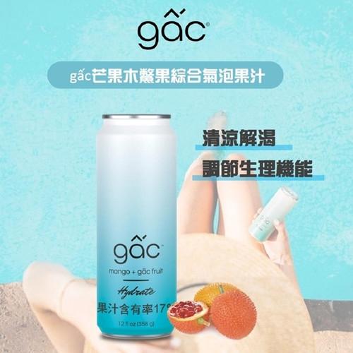 GAC 芒果木鱉果氣泡果汁 356克 X 8瓶