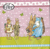 新貨到!彼得兔開學-德國 IHR 餐巾紙(33x33cm)