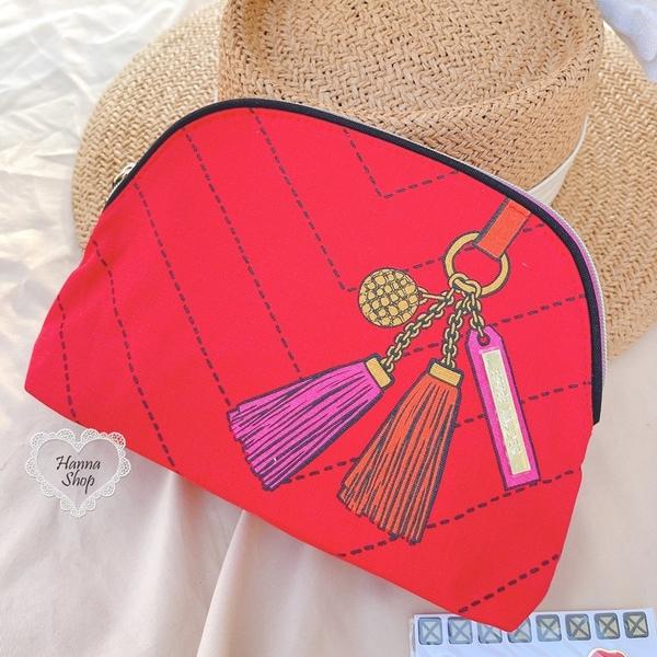 《花花創意会社》美單。雅詩蘭黛璀璨紅貝殼化妝包梅西百貨限定隨機送小貼紙【H7209】