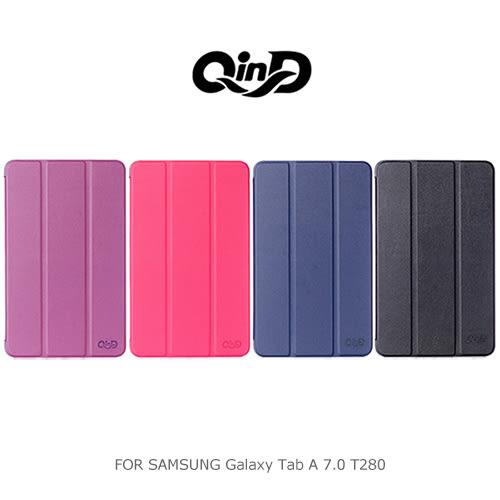 摩比小兔~ QIND 勤大 SAMSUNG Galaxy Tab A 7.0 T280 三折可立側翻皮套 保護套