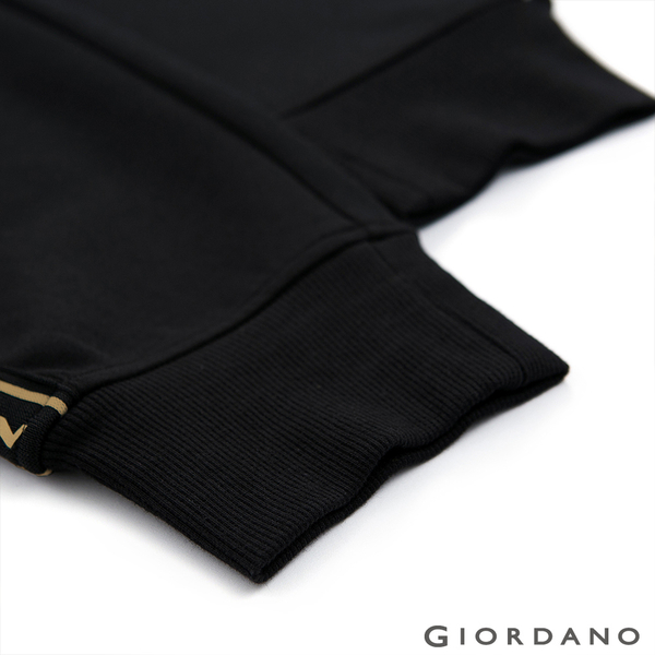 【GIORDANO】男裝G-MOTION線條撞色長褲-39 標誌黑