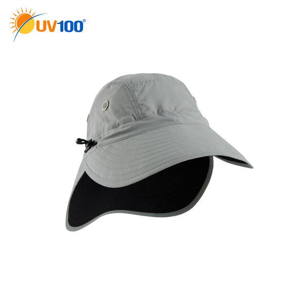 UV100 防曬 抗UV-多功能透氣護頸帽-前後戴
