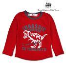 小童恐龍圖案紅色長袖棉T [85163]...