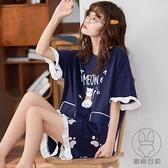 睡衣女夏季可愛韓版日系短袖純棉甜美公主風學生家居服套裝【貼身日記】