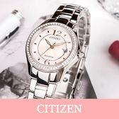 【5年延長保固】CITIZEN FE1140-51X 粉紅晶鑽光動能女錶 30顆施華洛世奇 現貨!