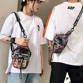 男士胸包運動時尚潮流側背肩背包斜背小包【左岸男裝】