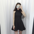 【免運】晚禮服 洋裝 掛脖削肩連衣裙 無...