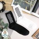 【正韓直送】韓國襪子 黑白斜條紋加大男性...