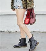女式靴子 新款馬丁靴女英倫風學生韓版百搭靴子機車短靴女靴 俏腳丫