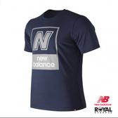 New Balance 暗藍色 短袖 棉質 T恤 男女款NO.H2362【新竹皇家 AMT91583】