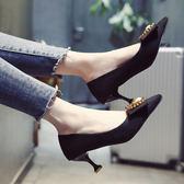 單鞋女2018春季女鞋新款百搭韓版高跟鞋