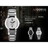 柒彩年代˙力抗LICORNE菱角切面水晶玻璃腕錶 藍寶石鏡片手錶 氣質典雅LI003LWWA【NE554】單支