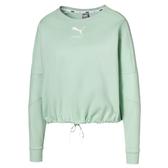 Puma Nu-Tility 女 湖水綠 長袖 流行系列 長袖T恤 透氣 排汗 運動 休閒 短版 長T 58276632