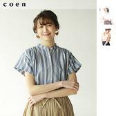 短袖上衣 抽褶罩衫 上班族 套裝 印地安棉免運費 日本品牌【coen】