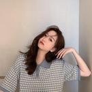 polo衫 夏季t恤女2021年新款寬鬆韓版東大門女裝短袖polo領短款上衣ins潮