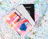 HAI2 milkjoy鐳射桃心七彩透明護照包ins彩虹少女旅行便攜證件包
