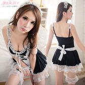 女僕 黑白蕾絲洋裝 XL中大尺寸角色扮演制服 蘿莉連身裙-愛衣朵拉