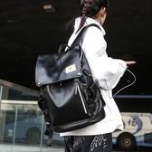 書包女男後背包PU皮質韓國大容量背包【聚寶屋】