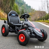兒童電動車四輪卡丁車可坐男女寶寶遙控玩具汽車小孩充氣輪沙灘車MBS『潮流世家』