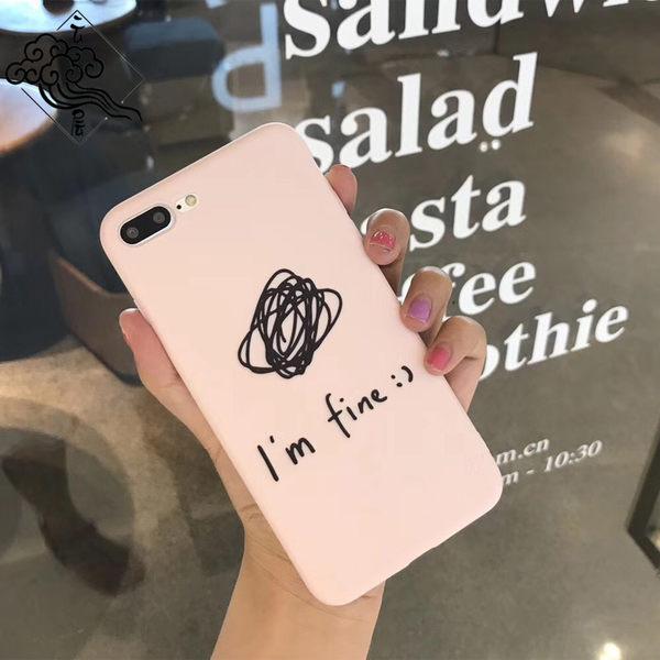 【SZ15】塗鴉手繪英文iPhoneX手機殼蘋果8/7/6s/plus保護套軟創意男女款潮