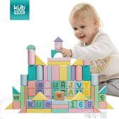 寶寶積木玩具兒童早教益智木制智力拼插積木男女玩具 喵小姐