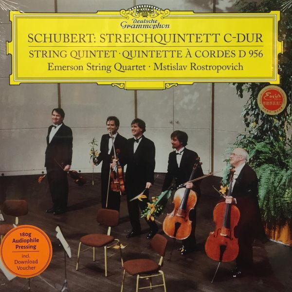 【停看聽音響唱片】【黑膠LP】SCHUBERT:STREICHQUINTERR D 956.EMERSON STRING QUARTET.MSTISLAV ROSTROPVICH