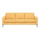 【歐雅系統家具】斯莫鋼骨布沙發-三人座-黃 / 沙發 / 布沙發 /三人沙發 / 12層內材 / 鐵腳