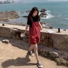 吊帶褲女套裝寬管連身短褲洋氣減齡薄款2021夏季新款時尚韓版寬鬆 【端午節特惠】