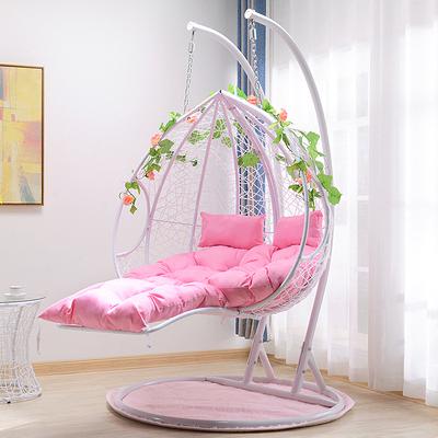 吊椅 雙人吊籃藤椅懶人鳥巢吊椅家用網紅吊床室內腳踏搖籃椅戶外秋千  亞斯藍