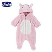 chicco- 滑冰企鵝-小兔造型連帽毛絨兔裝